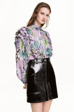 Frilled blouse - Purple/Tigers - Ladies | H&M 1