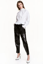 Patent trousers - Black - Ladies | H&M CN 1