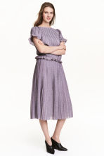 Pleated skirt - Pink/Glittery - Ladies | H&M CN 1