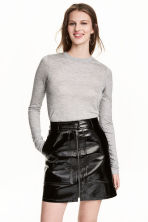 Lyocell top - Grey marl - Ladies | H&M CN 1