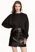 Top with drawstrings - Black - Ladies | H&M 1