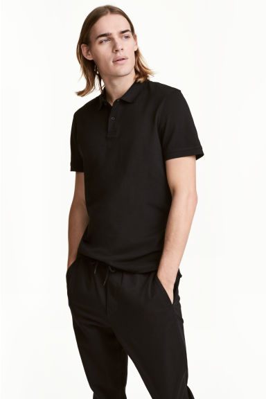 Polo shirt - Black - Men | H&M CN 1