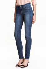 Skinny Regular Jeans - 深牛仔蓝/水洗 - Ladies | H&M CN 1