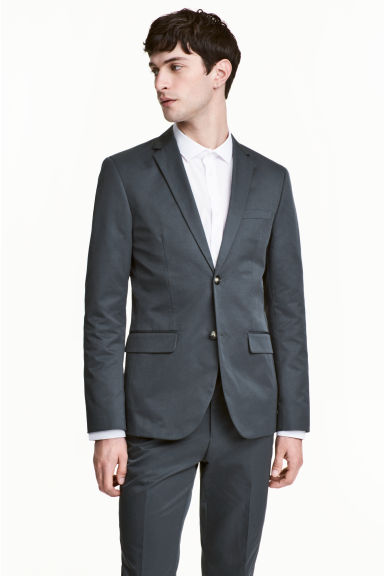 Blazer - Slim fit - Grijsgroen - HEREN | H&M BE
