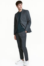 Cropped suit trousers Slim fit - Grey green - Men | H&M CA 1