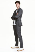 Wool suit trousers Regular fit - Dark grey - Men | H&M CN 1