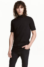 Turtleneck T-shirt - Black - Men | H&M CN 1