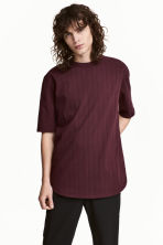 Striped T-shirt - Burgundy - Men | H&M 1