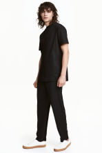 Trousers with press-studs - Black - Men | H&M CN 1