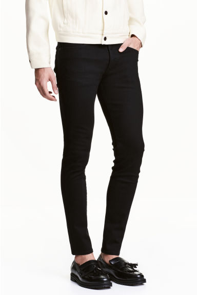 No Fade Skinny Jeans - Zwart/No fade black - HEREN | H&M BE