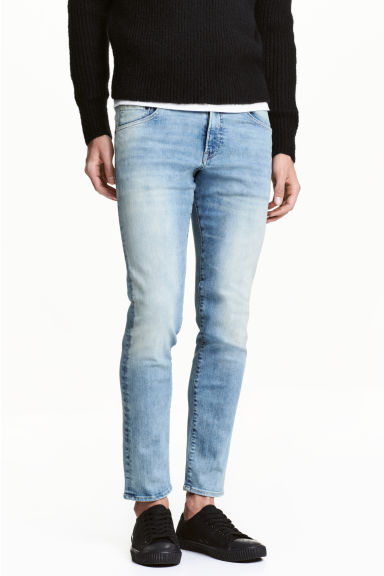Tech Stretch Slim Low Jeans - 浅牛仔蓝 - 男士 | H&M CN 1