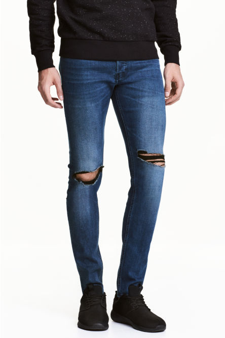 Skinny Low Trashed Jeans