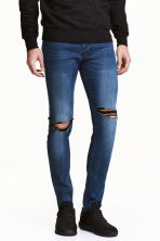 Skinny Low Trashed Jeans - Blu denim scuro - UOMO | H&M IT 1