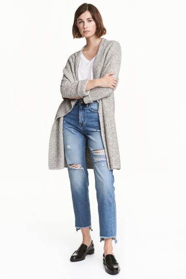 Textured-knit cardigan Model