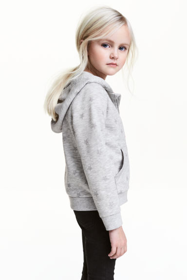 連帽外套 - Grey marl/Stars - Kids | H&M 1