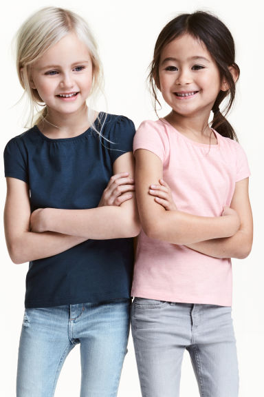 2-pack jersey tops - Dark blue - Kids | H&M 1
