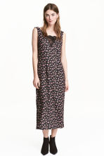 V-neck dress - Black/Floral - Ladies | H&M CN 1
