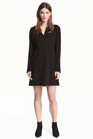 V-neck dress - Black - Ladies | H&M CN