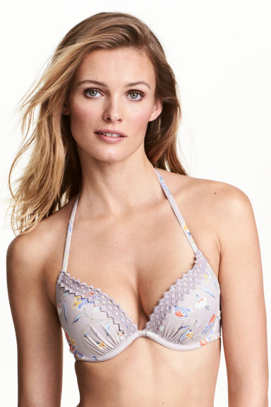 Push-up bikini top - Light mole/Floral - Ladies | H&M CN 1