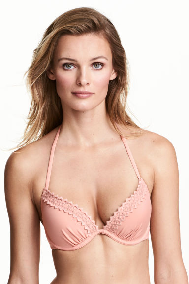 Push-up bikini top - Old rose - Ladies | H&M