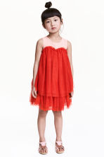 Tulle dress - Red/Pink - Kids | H&M 1