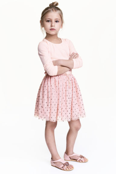 Glittery tulle skirt - Light pink - Kids | H&M CA