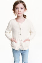 Cotton cardigan - Natural white - Kids | H&M 1