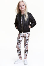 Printed leggings - White/Animal - Kids | H&M CN 1