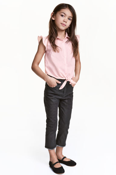 Trousers with patches - Nearly black -  | H&M CN 1