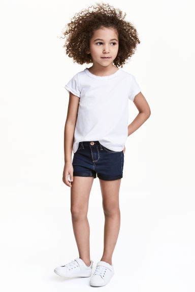 Denim shorts - Dark denim blue -  | H&M 1