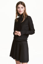 Pleated skirt - Black - Ladies | H&M GB 1