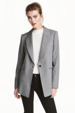 Long jacket - Grey/Pinstripe - Ladies | H&M 1