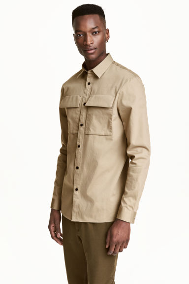 Utility shirt Regular fit - Beige - Men | H&M CN 1