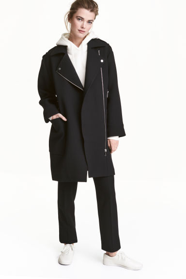 Biker coat - Black -  | H&M 1