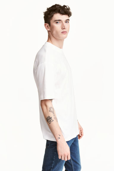Wide T-shirt - White - Men | H&M 1