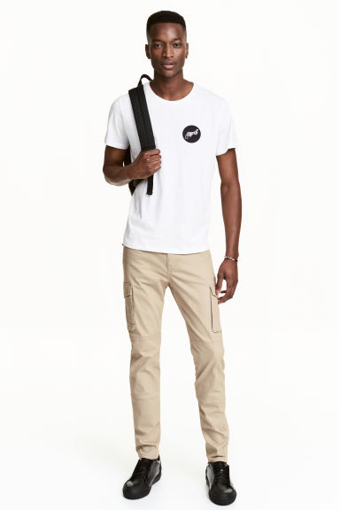 Cargo trousers Slim fit - Beige - Men | H&M CA 1