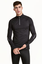 Running top with a collar - Black - Men | H&M 1