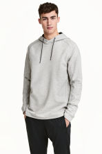 連帽運動上衣 - Grey marl - Men | H&M 1