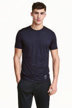 Perforated sports top - Dark blue - Men | H&M CN 1