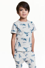 Printed T-shirt - Light grey/Dinosaurs -  | H&M 1