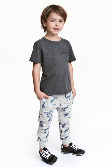 Joggers - Light grey/Dinosaurs - Kids | H&M CA 1