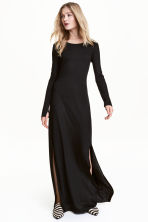 Jersey maxi dress - Black - Ladies | H&M 1