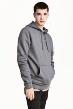 Hooded top - Dark grey - Men | H&M CN 1