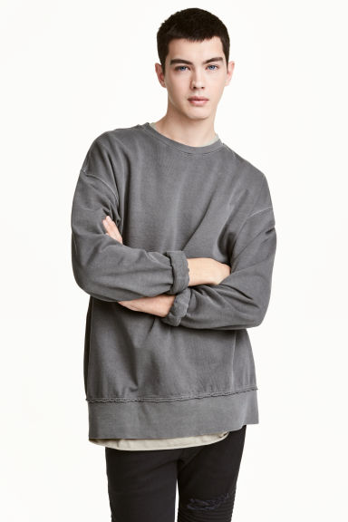 Sweatshirt - Mörkgrå - Men | H&M FI 1