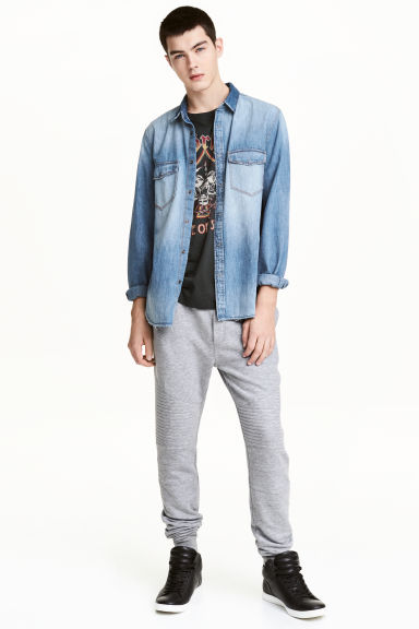 Biker joggers - Grey marl - Men | H&M CN 1