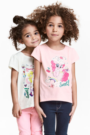 Top in jersey, 2 pz - Rosa chiaro/My Little Pony - BAMBINO | H&M IT 1