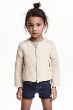 Imitation suede jacket - Light beige - Kids | H&M CN 1