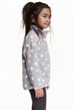 Fleece jacket - Grey/Spotted - Kids | H&M 1