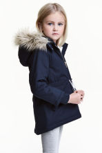 Padded parka - Dark blue - Kids | H&M CN 1