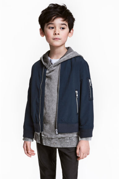 Bomber jacket - Dark blue - Kids | H&M CN 1
